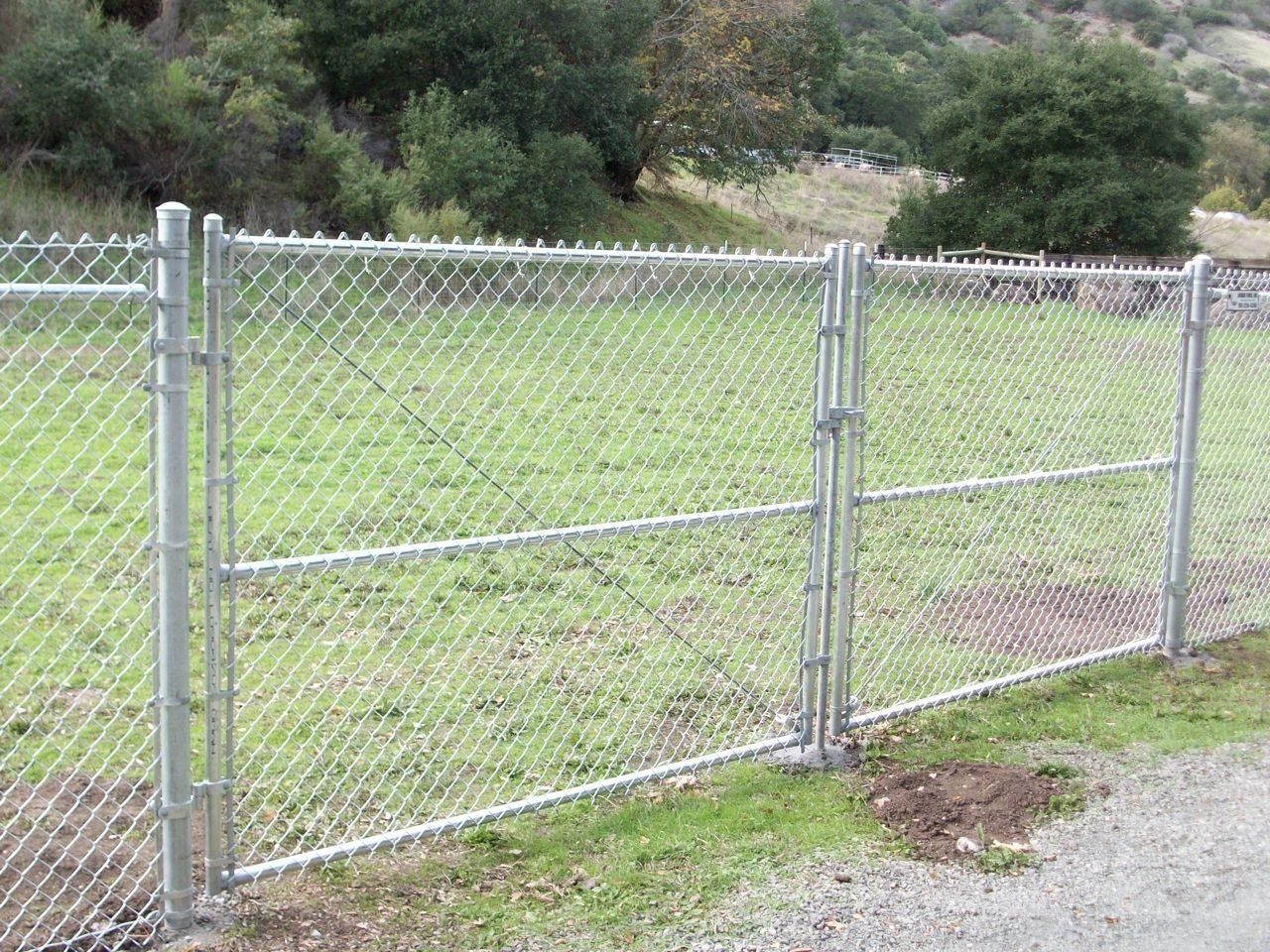 chain link fence double gate. CHAINLINK DRIVEWAY GATES. CLDG1 Chain Link Fence Double Gate O