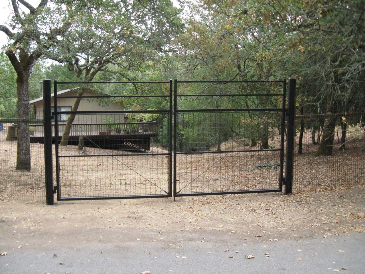 Security panel driveway gates « arbor fence inc a