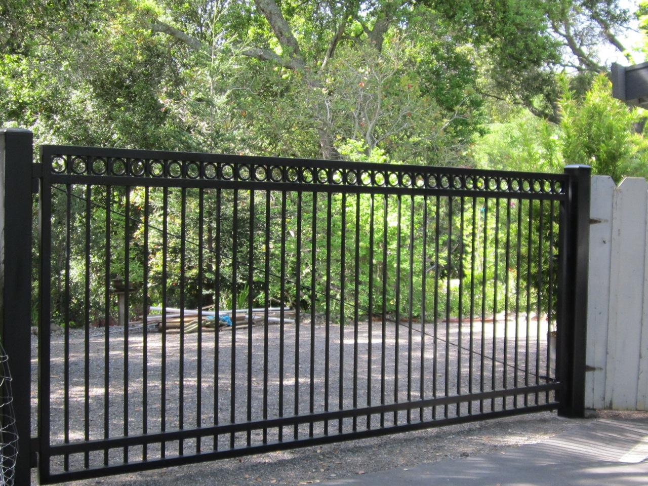 Flat top steel driveway gates « arbor fence inc a