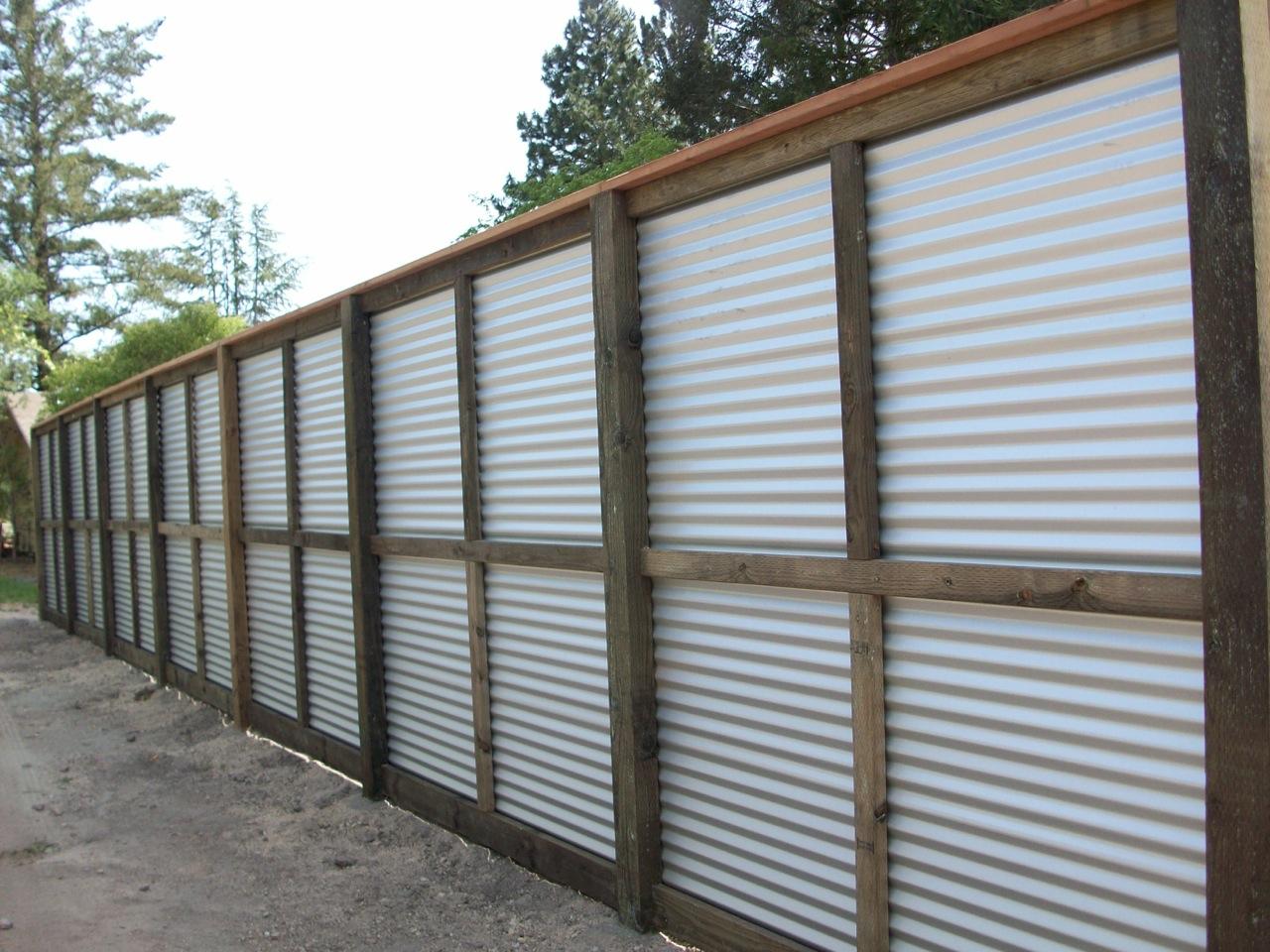 Wood with galvanized tin « arbor fence inc a diamond