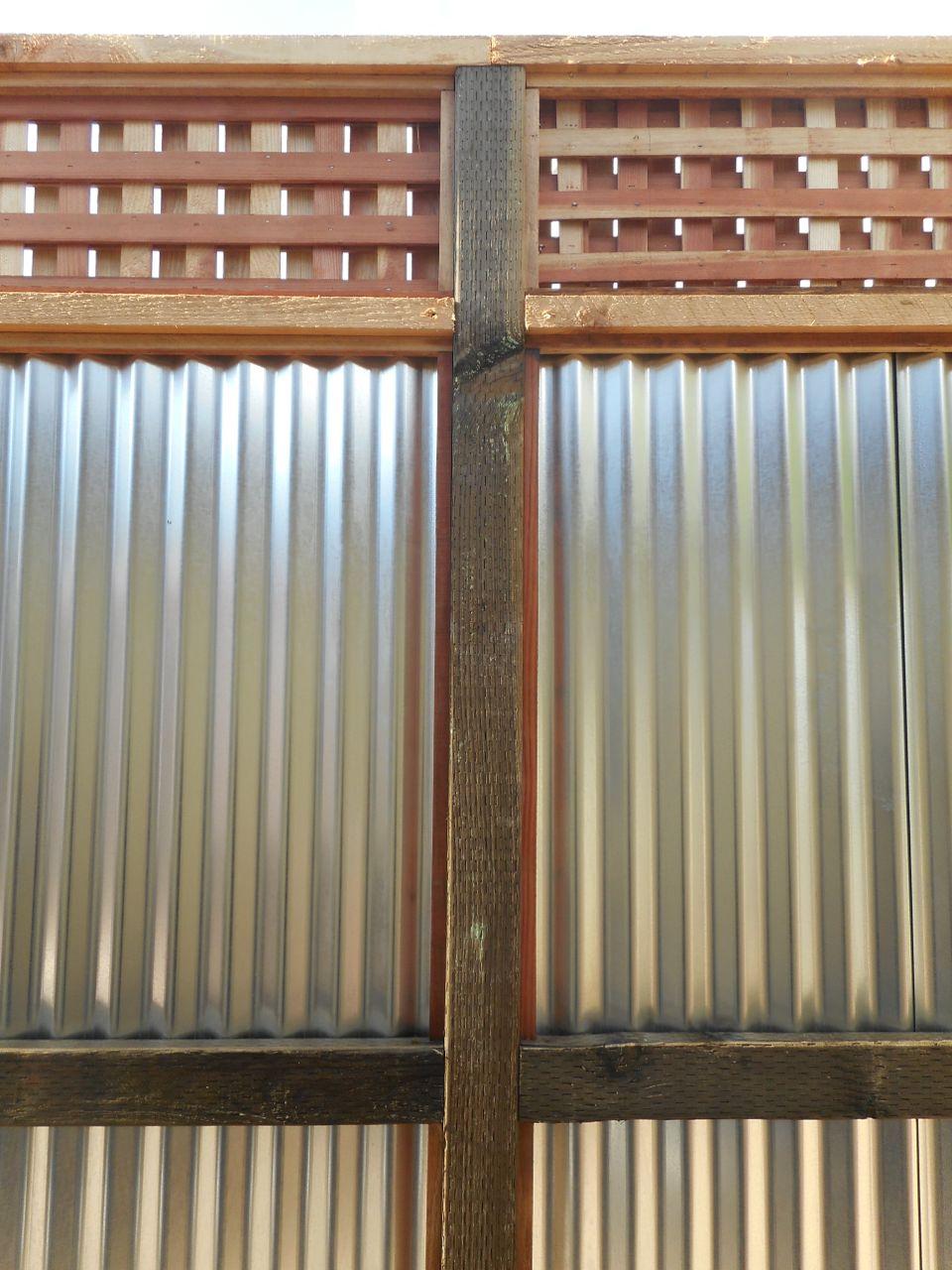 Wood With Galvanized Tin 171 Arbor Fence Inc A Diamond