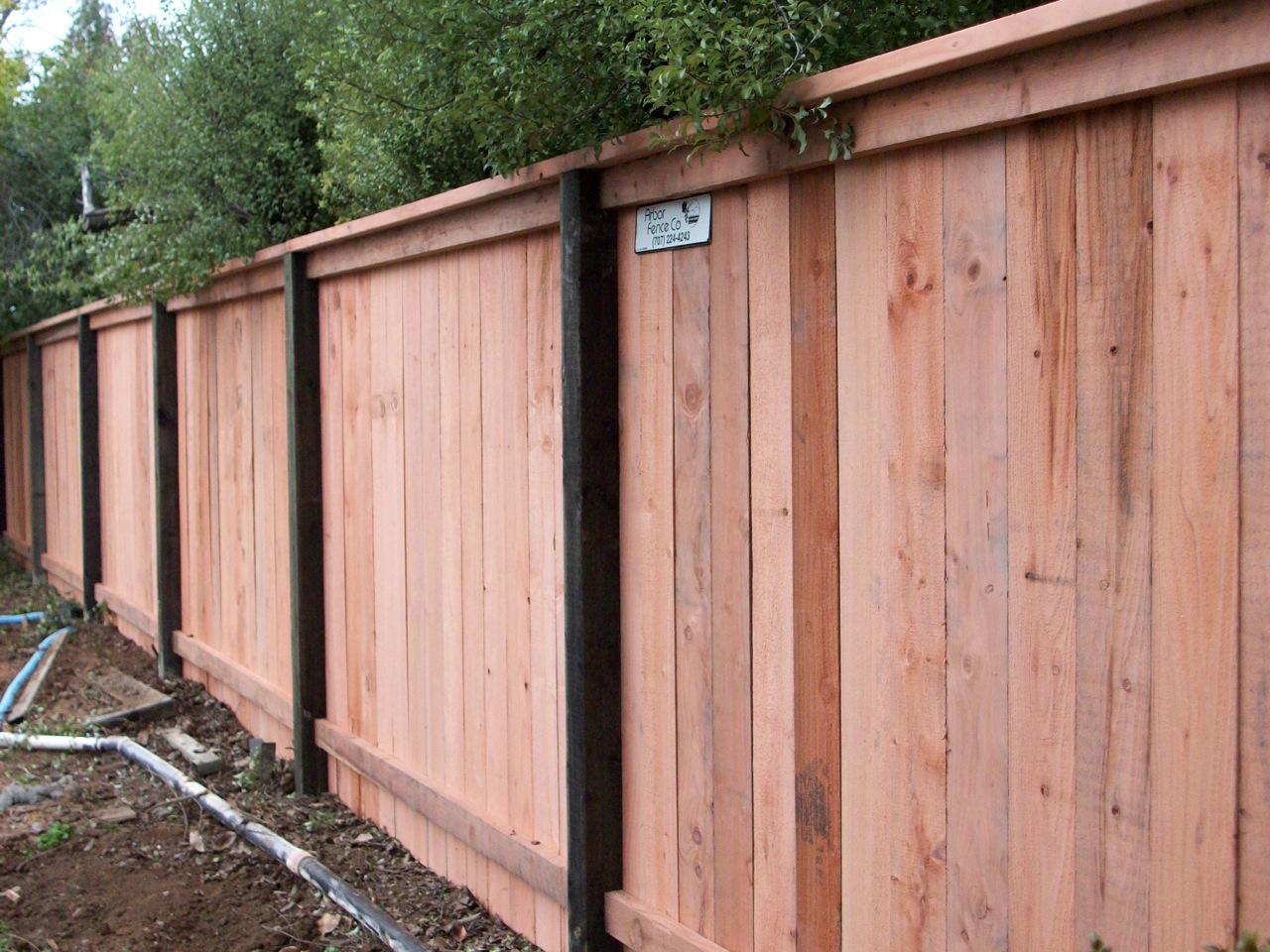 Top Cap For Solid Fences 171 Arbor Fence Inc A Diamond